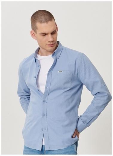 Wrangler Wrangler W211841400_Uzun Kollu Gömlek  Mavi
